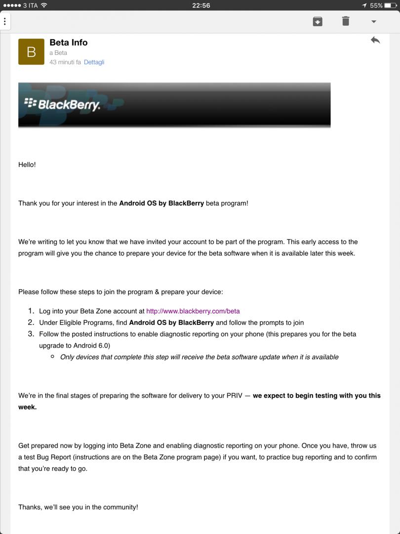 BlackBerry Priv Marshmallow