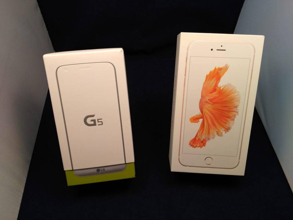 LG G5 vs iPhone 6S Plus