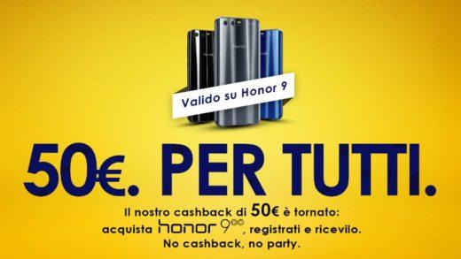 Volete pagare Honor 9 50 euro in meno? Ecco come fare