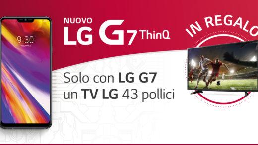 """LG G7: operazione a premi """"Vivi le emozioni in grande"""""""