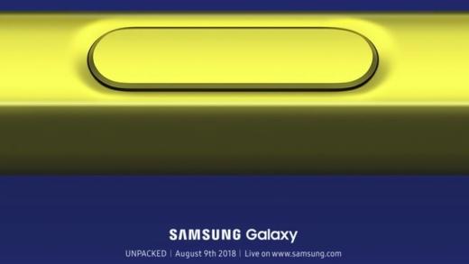 Galaxy Note 9 sarà presentato il 9 Agosto