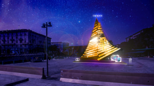 OPPO Xmas Tree, in Darsena il primo albero di Natale smart