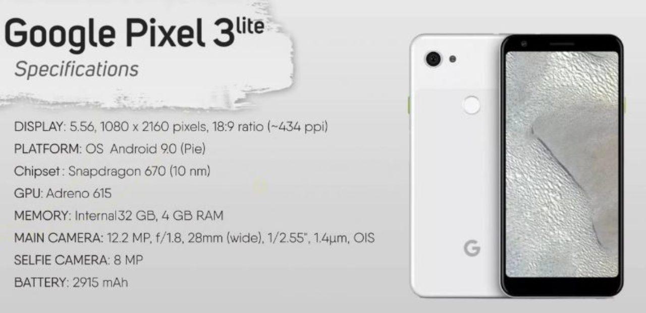 Pixel 3 Lite