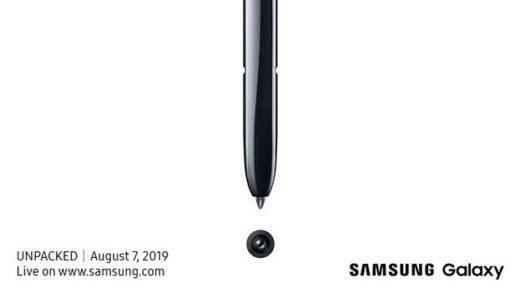 E' ufficiale: Galaxy Note 10 sarà presentato il 7 Agosto